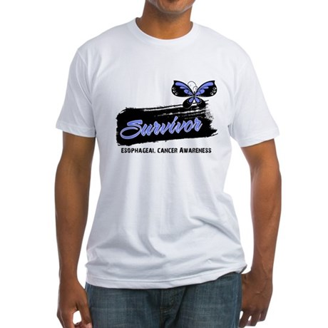 Survivor Esophageal Cancer Fitted T-Shirt