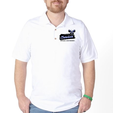 Survivor Esophageal Cancer Golf Shirt