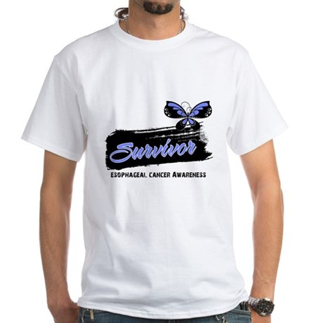 Survivor Esophageal Cancer White T-Shirt