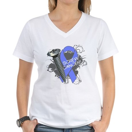 Screw Esophageal Cancer Women's V-Neck T-Shirt