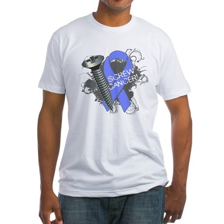 Screw Esophageal Cancer Fitted T-Shirt