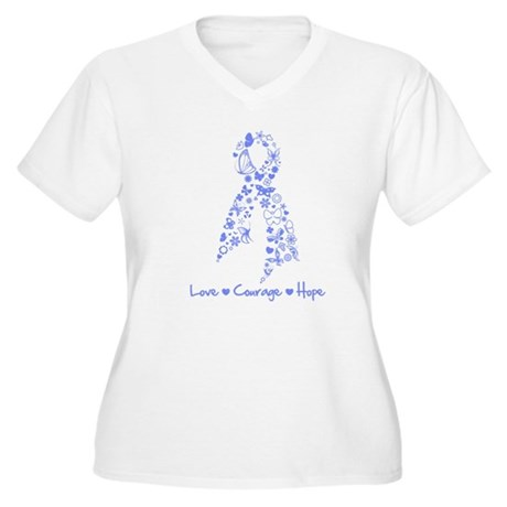 Love Hope Esophageal Cancer Women's Plus Size V-Ne