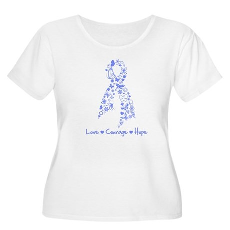 Love Hope Esophageal Cancer Women's Plus Size Scoo