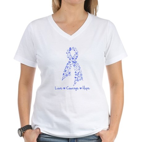 Love Hope Esophageal Cancer Women's V-Neck T-Shirt