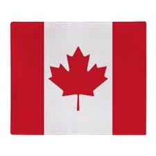 Canadian Flag Throw Blanket