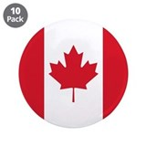 Canadian Flag 3.5&quot; Button (10 pack)