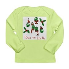 Peas on Earth Long Sleeve Infant T-Shirt