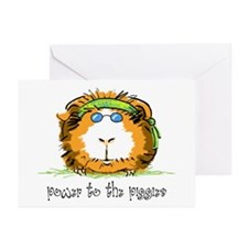 Power to the Piggies Greeting Cards (Pk of 10)