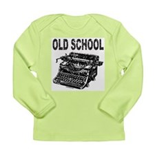 OLD SCHOOL TYPEWRITER Long Sleeve Infant T-Shirt