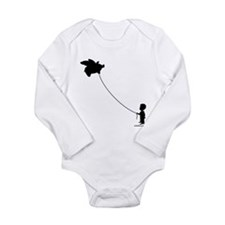 WHEN PIGS FLY Long Sleeve Infant Bodysuit