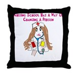 Student Nurse XXX Throw Pillow