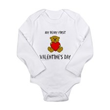 MY FIRST VALENTINE'S DAY Long Sleeve Infant Bodysu