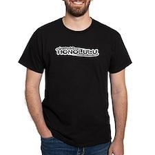 """""""I pooped in Honolulu"""" Black T-Shirt"""