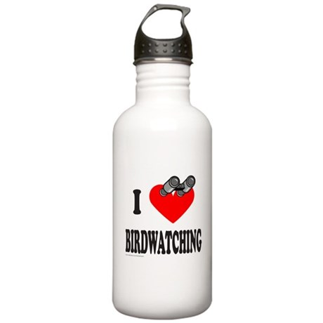 I HEART BIRDWATCHING Stainless Water Bottle 1.0L