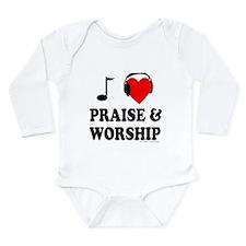 I HEART PRAISE & WORSHIP Long Sleeve Infant Bodysu