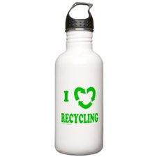 I LOVE RECYCLING Water Bottle