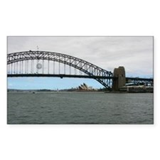 Opera House & Harbor Bridge Rectangle Decal