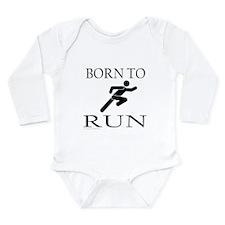 BORN TO RUN Long Sleeve Infant Bodysuit