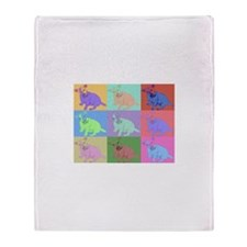 Warhol Style Jack Russell Design on Throw Blanket