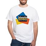Unisex White Smartest Card T-Shirt