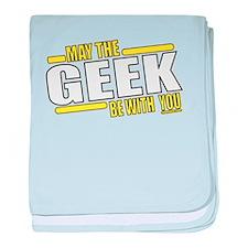 May the geek baby blanket