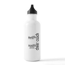 """Cheer Coach """"believe"""" Water Bottle"""