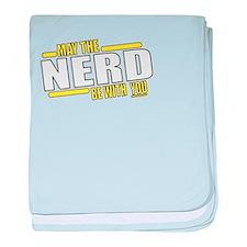 May the Nerd baby blanket