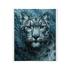 Snow Leopard Throw Blanket