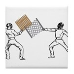 Fencing Tile Coaster