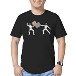 Fencing Men's Fitted T-Shirt (dark)