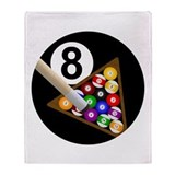 Cute Billiards Throw Blanket
