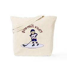 Light Hockey Girl Tote Bag