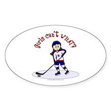 Light Hockey Girl Decal