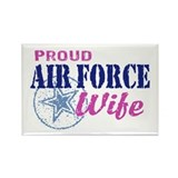 Proud Air Force Wife Rectangle Magnet