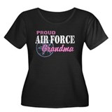 Proud Air Force Grandma Women's Plus Size Scoop Ne