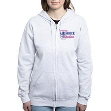 Proud Air Force Grandma Zip Hoodie