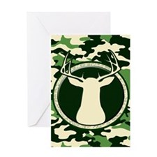 CAMO BUCK Greeting Card