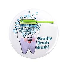"""Brushy Brush Brush 3.5"""" Button (100 pack)"""