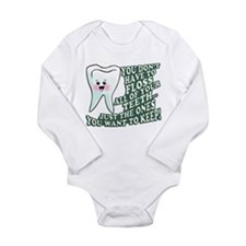 Floss Those Teeth Long Sleeve Infant Bodysuit