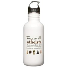 We're All Atheists Sports Water Bottle
