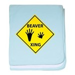 Beaver Crossing baby blanket