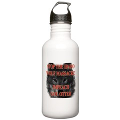 Stop the wolf massacre Stainless Water Bottle 1.0L