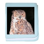 Great Horned Owl baby blanket