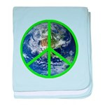 Earth Peace Symbol baby blanket