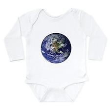 Earth Long Sleeve Infant Bodysuit