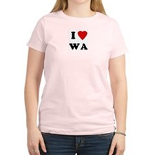 I Love WA Women's Pink T-Shirt