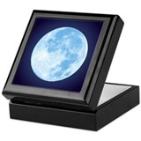 Blue Full Moon Keepsake Box