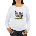 Wyandotte Silver Pair Women's Long Sleeve T-Shirt