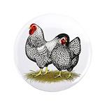 "Wyandotte Silver Pair 3.5"" Button (100 pack)"