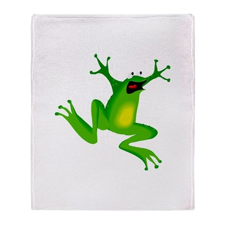 Feeling Froggy Throw Blanket